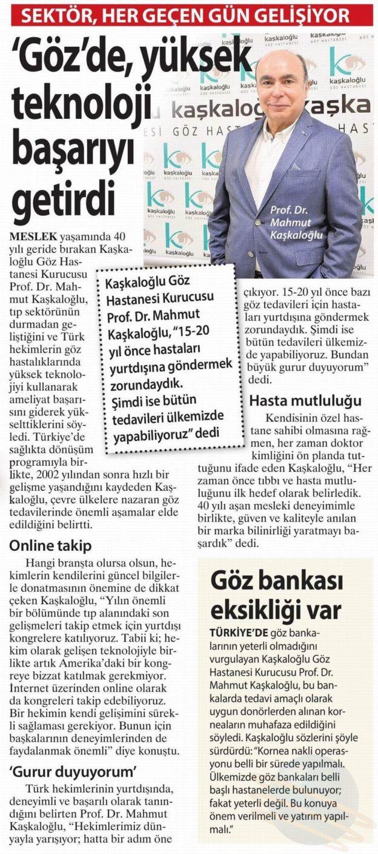 Kaşkaloğlu Milliyet Business Ege 30.04.2017